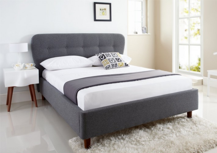 בלתי רגיל מיטה זוגית מרופדת בד דגם ROSETA - GAROX - חנות רהיטים במחירי אונליין QJ-35